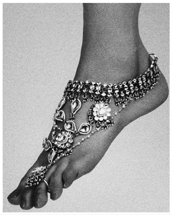 bracelet cheville femme indien